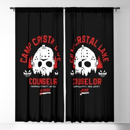 Camp Crystal Lake Counselor Blackout Curtain