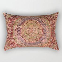 Bohemian Medallion III // 15th Century Old Distressed Red Green Purple Lavender Ornate Rug Pattern Rectangular Pillow