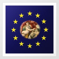 europe Art Prints featuring Europe by Turul