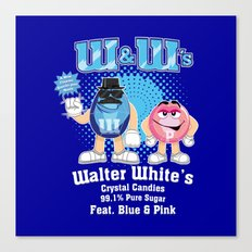 W&W's Crystal Candy Fet. Blue and Pink Canvas Print