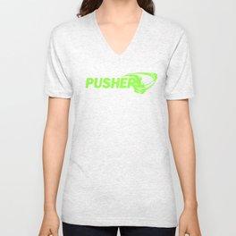 Pusher Green Unisex V-Neck