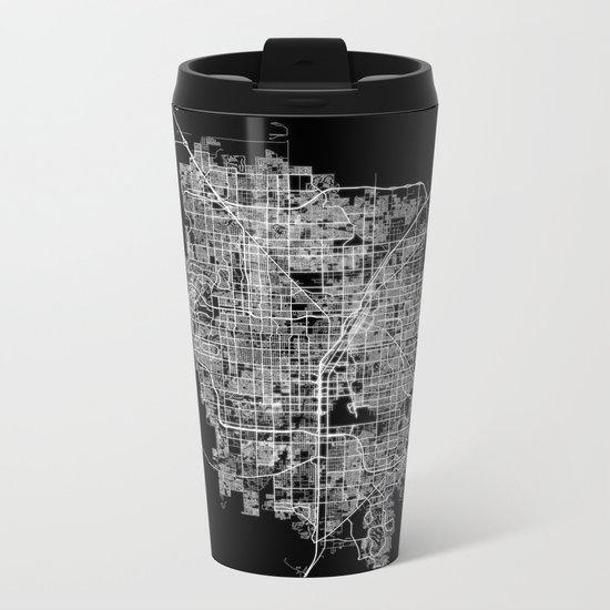 Las Vegas map Metal Travel Mug