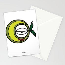 Moon Goddess with Coffee Leaf Eye-lash [Spa Ixchel] Stationery Cards