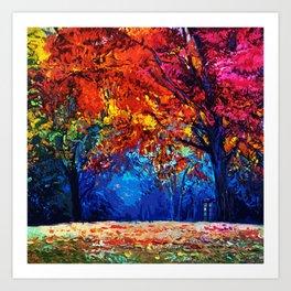 Tardis Tree Art Blossom Art Print