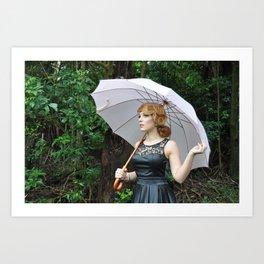Pink Umbrella Art Print