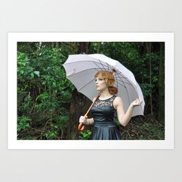 Pink Umbrella Art Print