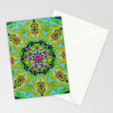 Golden star mandala in fantasy cartoon style Stationery Cards