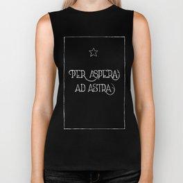 Per Aspera Ad Astra (black) Biker Tank
