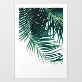 Palm Leaves Green Vibes #4 #tropical #decor #art #society6 Art Print