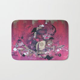 Dont Worry - Party Hard (Pink) Close Up Bath Mat