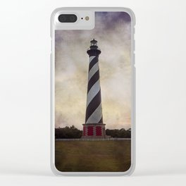 Cape Hatteras Lighthouse II Clear iPhone Case