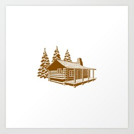 A Cabin in the Woods Art Print