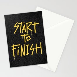 Start To Finish Stationery Cards