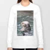otter Long Sleeve T-shirts featuring Otter by RMK Creative