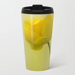 Yellow Globeflower On A Green Bokeh Background #decor #society6 #homedecor Travel Mug