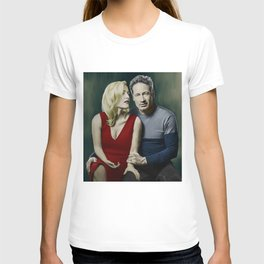 Gillian Anderson and David Duchovny painting T-shirt