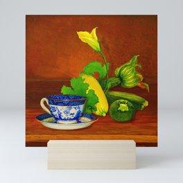 Teacup with Squash Mini Art Print