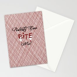 """Carmilla Quote: """"Posterity can bite me"""" Stationery Cards"""