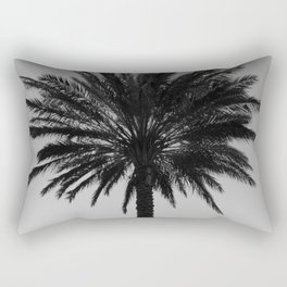 Big Black and White Palm Tree Rectangular Pillow