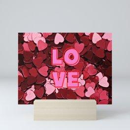 Hearts Love Confetti Mini Art Print