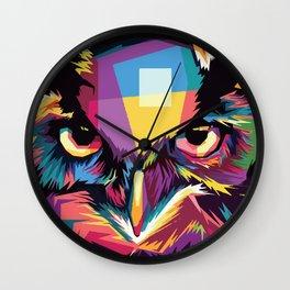 Multicolor Owl Wall Clock