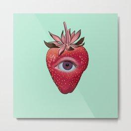 Sacred Strawberry Metal Print