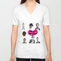 benedict V-neck T-shirts featuring Benedict DorkyBatch by Paris Noonan