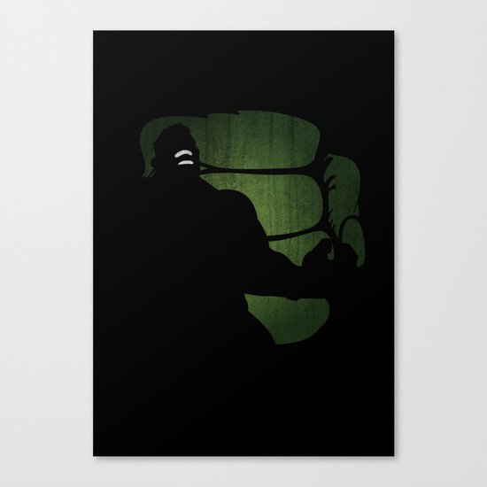 SuperHeroes Shadows : Hulk Canvas Print