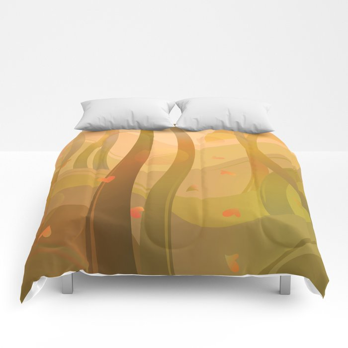 Enchanting Autumn Forest Comforters
