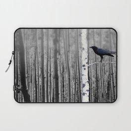 Black Bird Crow Tree Birch Forrest Black White Country Art A135 Laptop Sleeve
