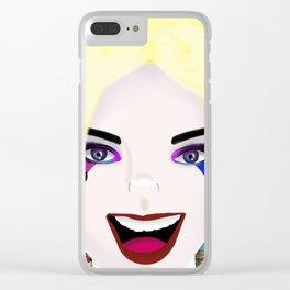 Harley Quinn love! Clear iPhone Case