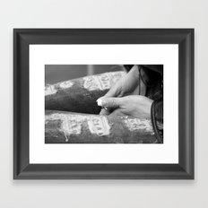 Hidden modesty Framed Art Print