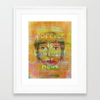 paper towns Framed Art Prints featuring MrS paper towns by Anique