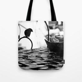 Cafe Beignet Silhouette Tote Bag