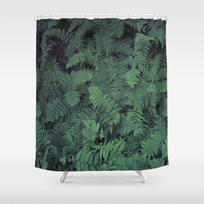 Fern Leaf Pattern Shower Curtain