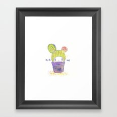 the secret wish of a cactus Framed Art Print