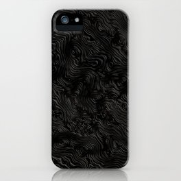 Black Silk Moire Pattern iPhone Case