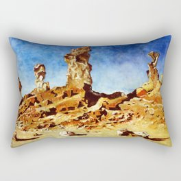 Valley of The Moon - Witches Face Rectangular Pillow