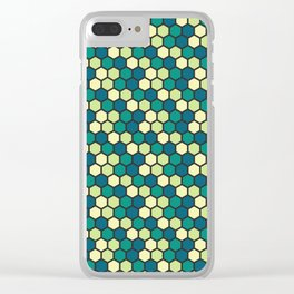 green honeycomb pattern Clear iPhone Case