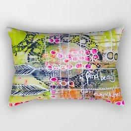Find Beauty Rectangular Pillow