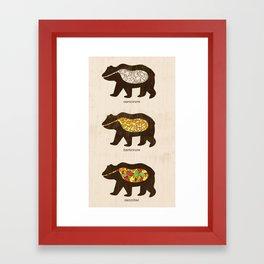 The Eating Habits of Bears Framed Art Print
