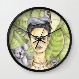 Frida en Australia Wall Clock