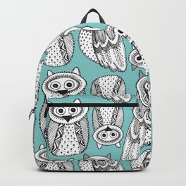 Hand dravn Cute Owl Backpack