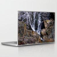 puerto rico Laptop & iPad Skins featuring Diego's Salcedo Waterfall Puerto Rico by Ricardo Patino