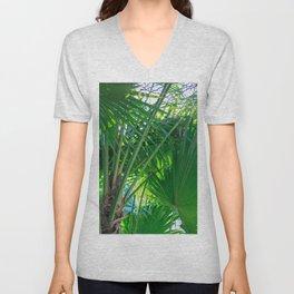 Sunny Tropical Palms 1 Unisex V-Neck