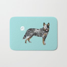 Australian Cattle Dog blue heeler funny fart dog breed gifts Bath Mat