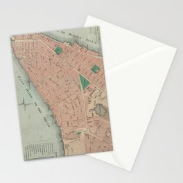 Vintage Map of Lower Manhattan (1776) Stationery Cards