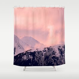 Kenai Mts Bathed in Serenity Rose - II Shower Curtain