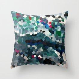 Emerald Sea Green Moon Love Throw Pillow