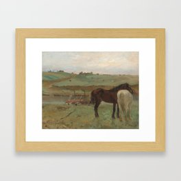 Horses in a Meadow Framed Art Print